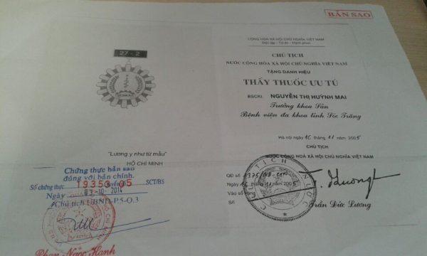 Thầy thuốc ưu tú - Nguyễn Thị Huỳnh Mai